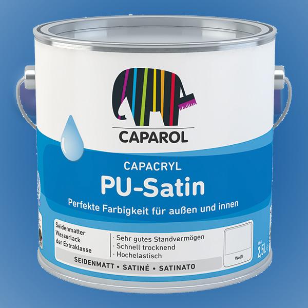 CAPAROL Capacryl PU-Satin - 2,50 Liter weiß (Abbildung ähnlich)