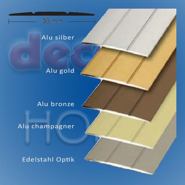 Übergangsprofil quickFIX zum kleben 100 x 3,8 cm - Alu silber