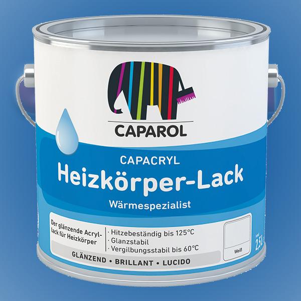 CAPAROL Capacryl Heizkörper-Lack - 2,50 Liter weiß (Abbildung ähnlich)