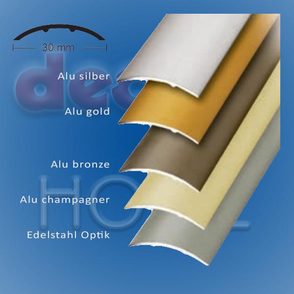Übergangsprofil quickFIX zum kleben 100 x 3 cm - Edelstahl optik