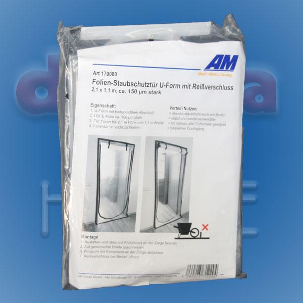 Staubschutztür U-Form mit Reißverschluss