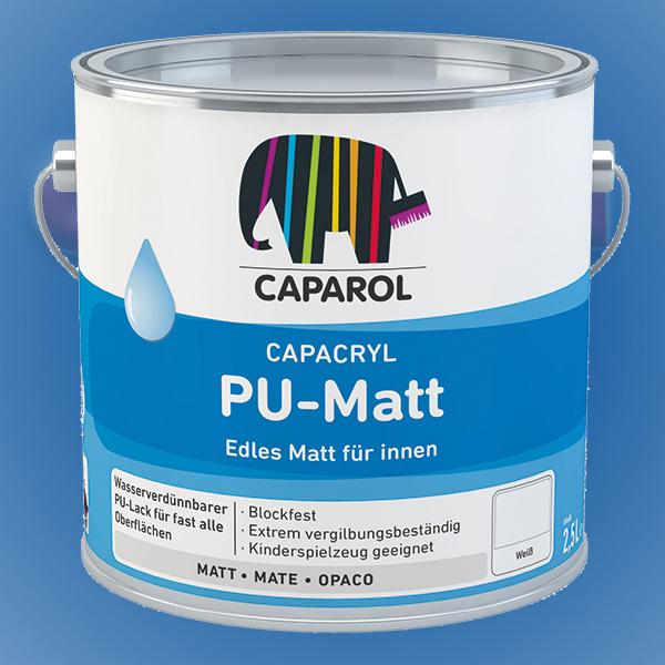 CAPAROL Capacryl PU-Matt - 2,50 Liter weiß (Abbildung ähnlich)