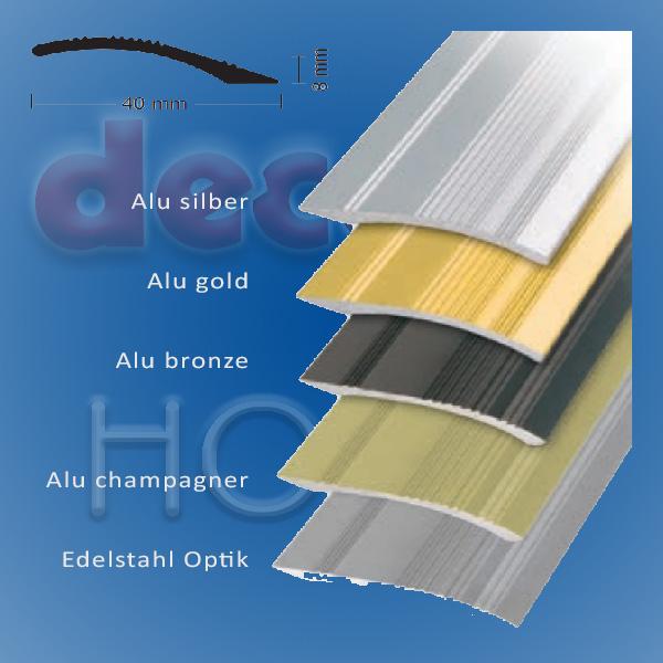 Rampenprofil quickFIX zum kleben 100 x 4,0 cm - Alu silber